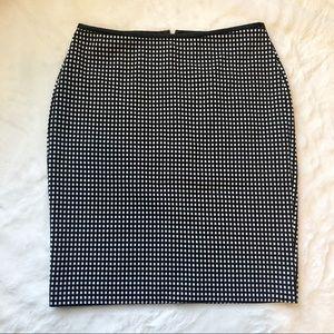 Express | Black & White Pencil Skirt